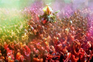 Holi In Vrindavan: Image courtesy: discoveringIndia