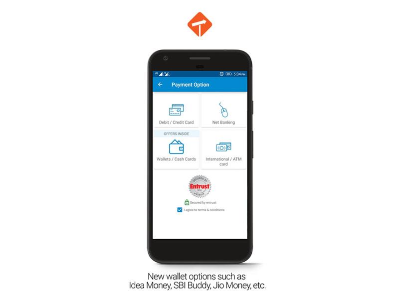Travelyaari App Wallet