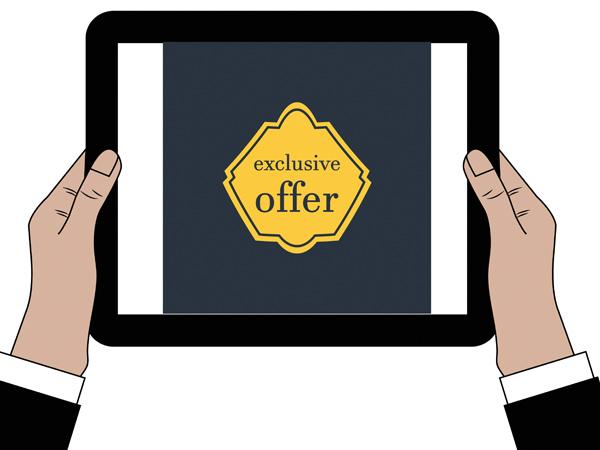 Website / App exclusive offers