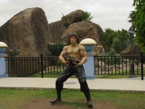 Statue of Rambo in Ramoji Film City