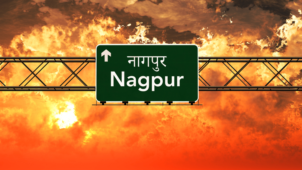 Traveling through the highways of Nagpur.