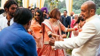 The grand-masti at the wedding