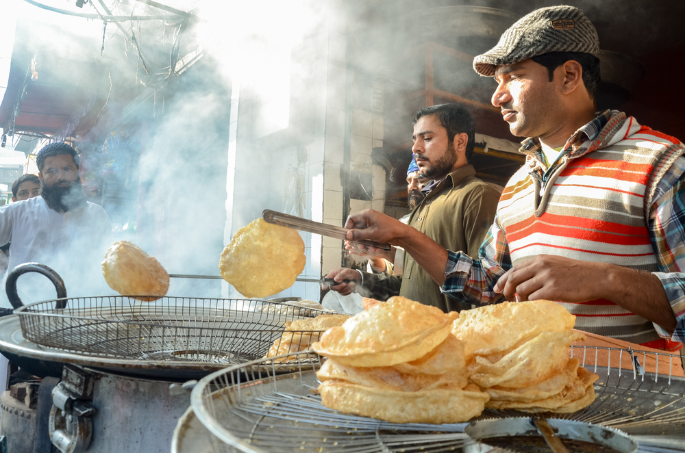 Food stalls soaking in Punjab flavors